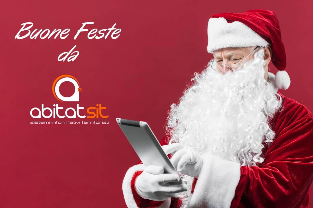 Babbo Natale con un iPad