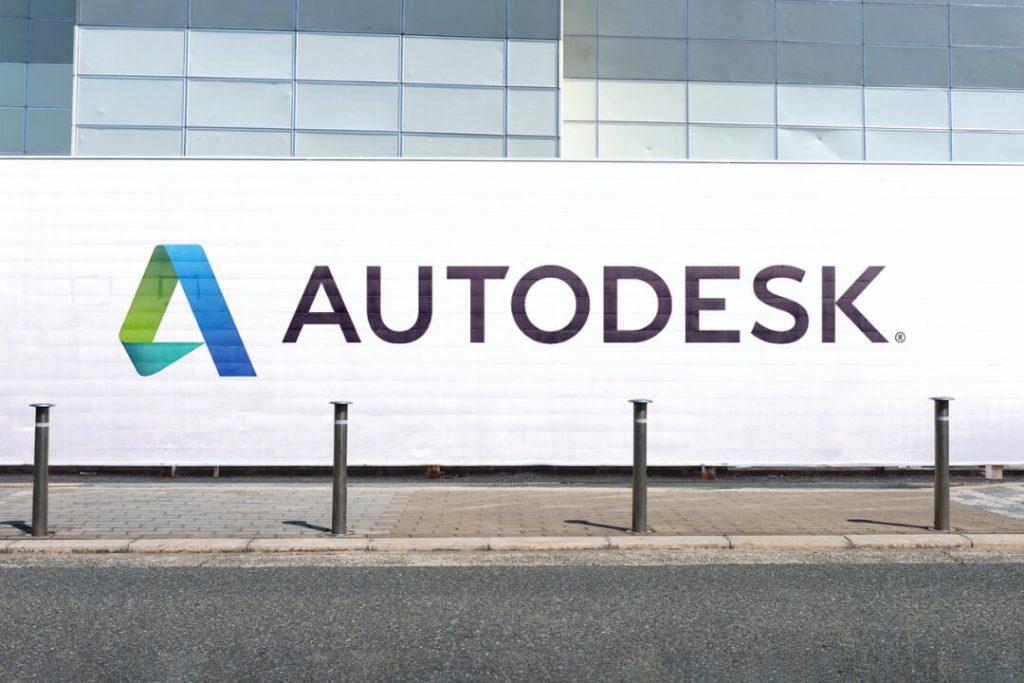 Un muro col logo Autodesk