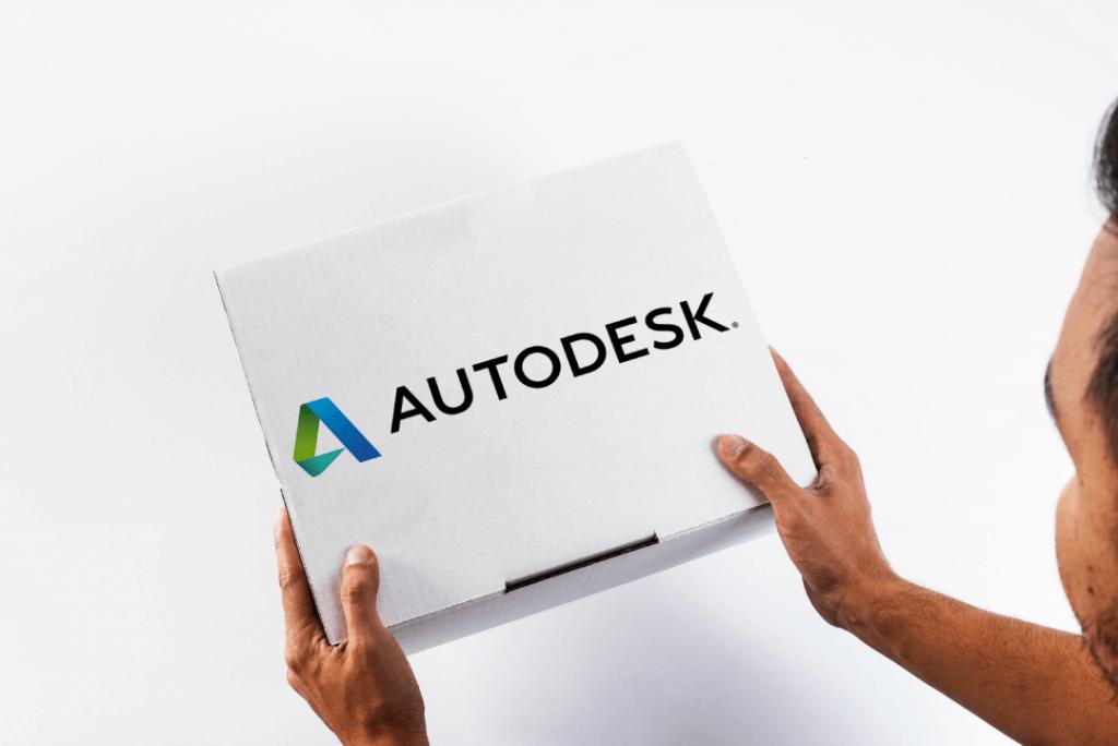 Una scatola col logo Autodesk